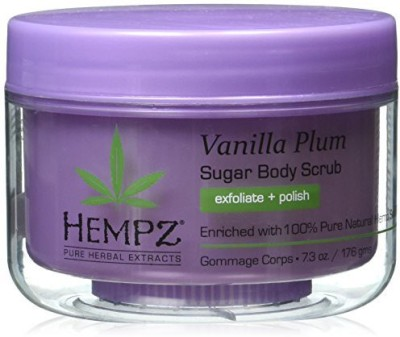 Hempz Herbal Sugar Body Scrub, Light Purple, Vanilla Plum Scrub(176 g)