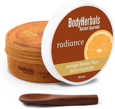BodyHerbals Radiance Body Polisher, Orange Honey Fine Scrub(200 g)
