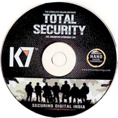 K7 Total Security 2015 1 Pc 1 Year Cd & Serial Key