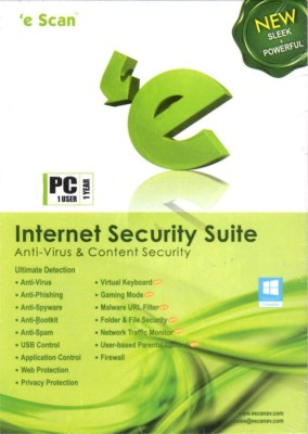 eScan Scan Internet Security Suite 1 PC 1 Year