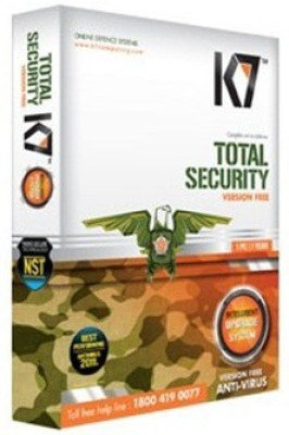 K7 Total Security 1 User 1 Year (License Key+Installation CD)