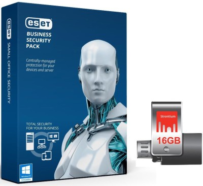 Eset Business Security Pack 25 PC 18 Months (Window 10 Supported) with Strontium OTG 16 GB 3.0 Pendrive at flipkart
