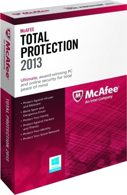McAfee Total Protection 2013 3 PC 1 Year