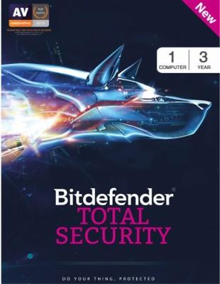 Bitdefender Total Security 2017 1 PC 3 Year Antivirus