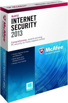 McAfee Internet Security 2013 3 PC 1 Year