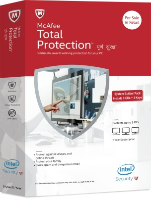 McAfee Total Protection 3 PC 1 Year(CD/DVD)
