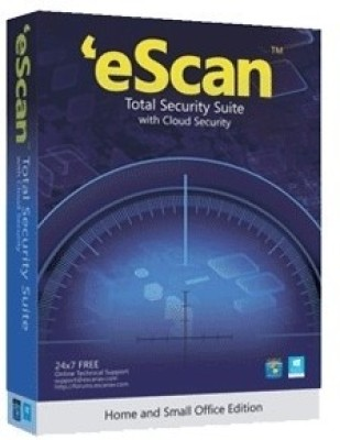 eScan Total Security Suite with Cloud Security 1 User 1 Year at flipkart