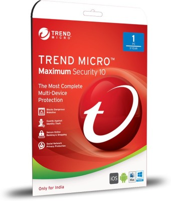 Trendmicro Internet Security Version 10 1 PC 1 Year Antivirus