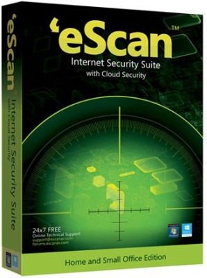 ESCAN Internet Security Suite With Cloud Security 1 User 1 Year