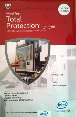 McAfee Intel Total Protection 1user 3 Year