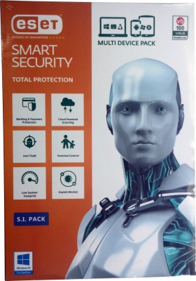 ESET Smart Security 5PC 1Year Total Protection (6 months Mobile Security) Version 9  available at flipkart for Rs.1995