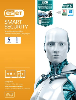 Eset Smart Security 2016 5 PC 1 Year