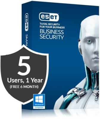 Eset Business Security Pack 5 PC 18 Months (Window 10 Supported) at flipkart