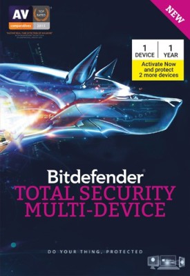 Bitdefender Total security Multi device 2017 (windows mac,Android) buy 1 device get 2 device free