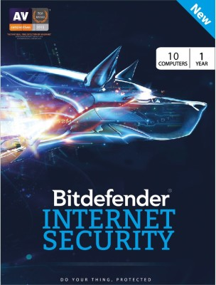 Bitdefender Internet Security 10 User 1 Year(Voucher) at flipkart