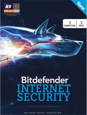 Bitdefender Internet security 2017 3 PC 3 Year Antivirus