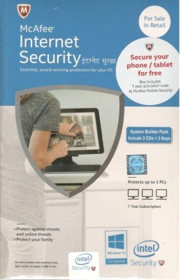 McAfee Internet Security 2015 3 PC 1 Year