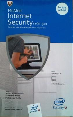 McAfee Intel Internet Security 1user 3 year at flipkart