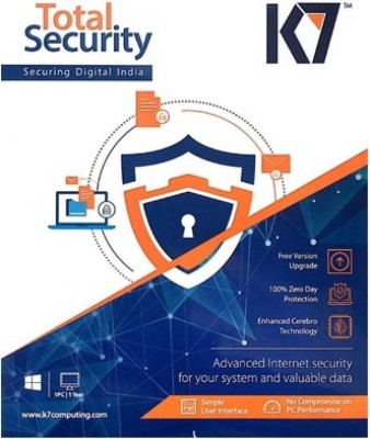K7 Total Security Antivirus 4 PC and 1 Android Device 1 Year (One Installation CD)