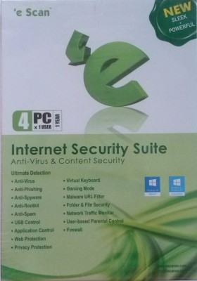eScan Internet Security 4 Users 1 Year
