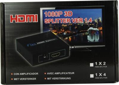 Smart Pro 2 Port HDMI Splitter Media Streaming Device(Black)  available at flipkart for Rs.890