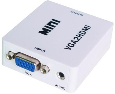 AVB Mini VGA Audio to HDMI 1080P Converter Adapter Media Streaming Device(White)  available at flipkart for Rs.615