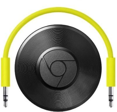 Google Chromecast Audio Media Streaming Device(Black)  available at flipkart for Rs.3299