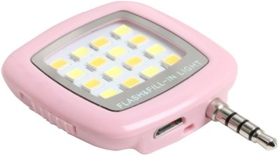 B Brothers Mini 16 LED Night Using Selfie Flesh Fill-In Light Pocket Spotlight Flash(Pink)