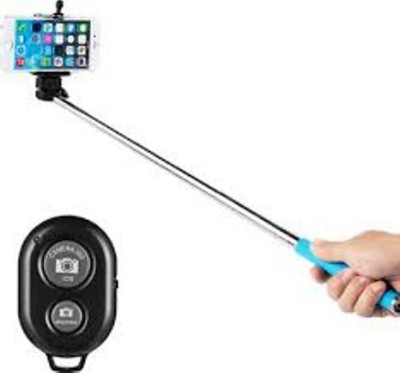 JSS Exports Bluetooth Selfie Stick(Silver, Remote Included)