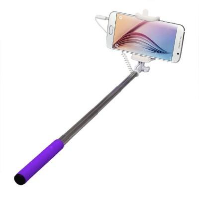 Silver Swan Cable Selfie Stick(Multicolor)