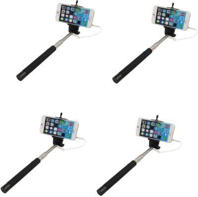 Totu Cable Selfie Stick(Multicolor)