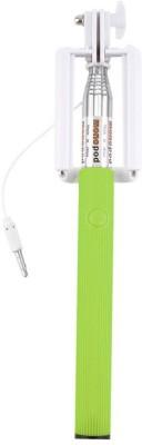 Flipfort Shopping Mall Cable Selfie Stick(Green) Flipkart