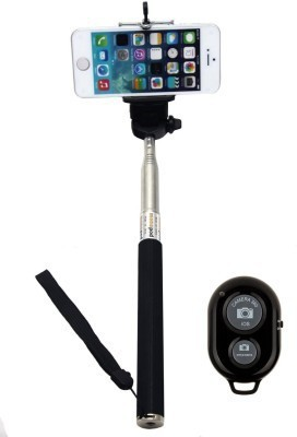 Corcepts Bluetooth Selfie Stick(Black, Remote Included)