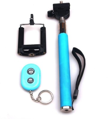 Acromax Selfie Stick with Bluetooth Remote for Blackberry 9981 Monopod(Blue, Supports Up to 400 g)