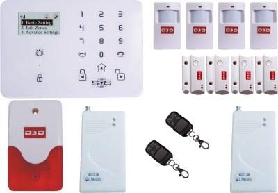 D3D Model D9 With 4 Door Sensor + 4 PIR Sensor + 1 Vibration + 2 Remote+Siren Touch Screen Smart phone iOS/ Android Mobile apps Wireless Sensor Security System at flipkart
