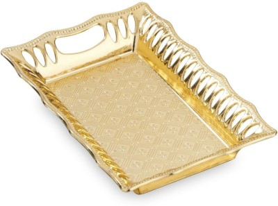Sukhson India PARKER TRAY GOLD 1 Tray at flipkart