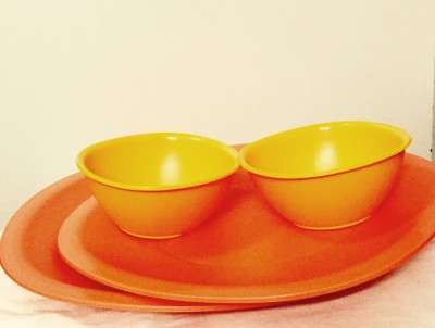 Tupperware Legacy Set Small Plate Bowl Serving Set(Pack of 4)  available at flipkart for Rs.525