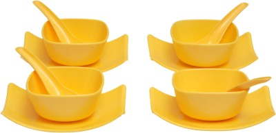 Shaurya Saran Tray, Bowl, Spoon Serving Set Pack of 12