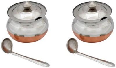 Beaut Ghee Pot Bowl Spoon Serving Set(Pack of 6) at flipkart