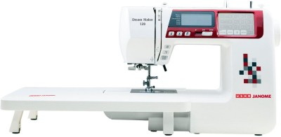 Usha Dream Maker 120 Computerised Sewing Machine (White)
