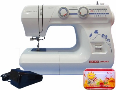 Usha Janome Wonder Stitch  Cd  Electric Sewing Machine  Built in Stitches 21  available at Flipkart for Rs.13500