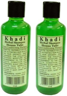 Khadi Herbal Henna Tulsi Shampoo