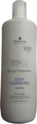 Schwarzkopf BC Scalp Therapy Deep Cleansing Shampoo, 1000 ML