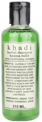 Khadi Herbal Henna Tulsi Shampoo(210 ml)