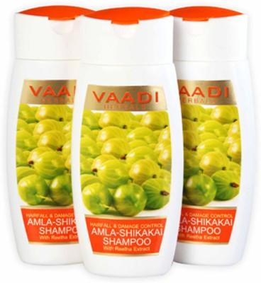 Vaadi Herbals Value Pack of 3 Amla Shikakai Shampoo(330 ml)