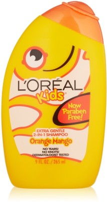 Loreal Kids Disney Princess Extra Gentle Orange Mango 2 In 1 Shampoo, 265 ML