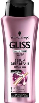 Schwarzkopf Gliss Serum Deep Repair Shampoo, 400 ML