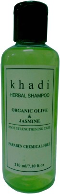 Khadi Herbal Organic olive & jasmine ( Paraben Chemical Free ) Shampoo(210 ml)