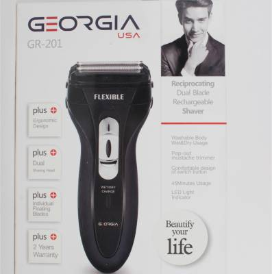 GeorgiaUSA GR-201 Dual Blade Rechargeable Shaver For Men