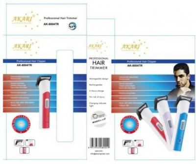 Akari AK-8004TR Rechargable Trimmer For Men